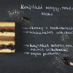 Konfitált meggy, tonkabab, csoki